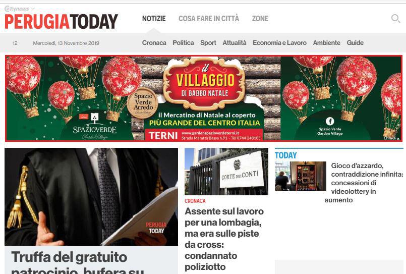 Masthead Desktop - PerugiaToday - Spazio Verde, Il Villaggio di Babbo Natale-2