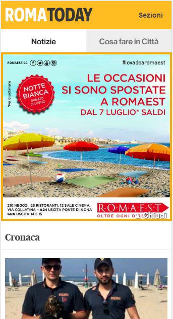 Centro Commerciale Roma Est  - Masthead Mobile RomaToday-2