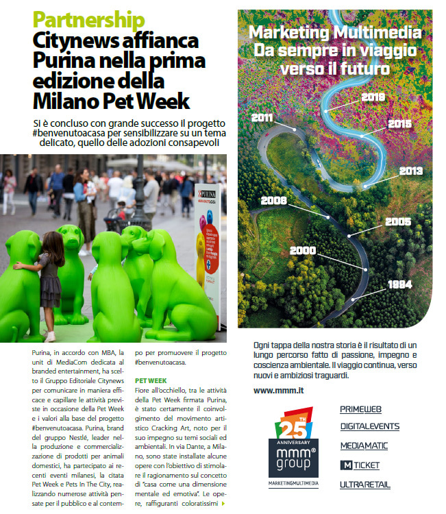 Citynews affianca Purina nella prima edizione della Milano Pet Week - DailyNet, 26 novembre 2019 (1)-2