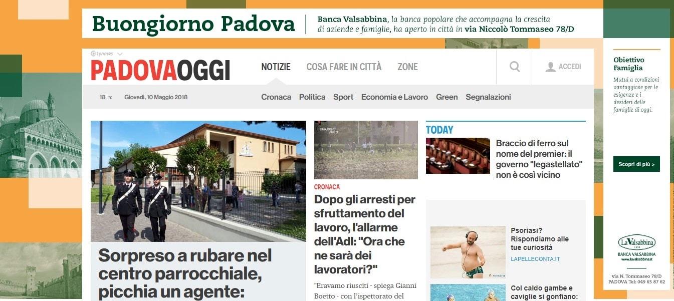 Banca Valsabbina - Skin Desktop PadovaOggi-2