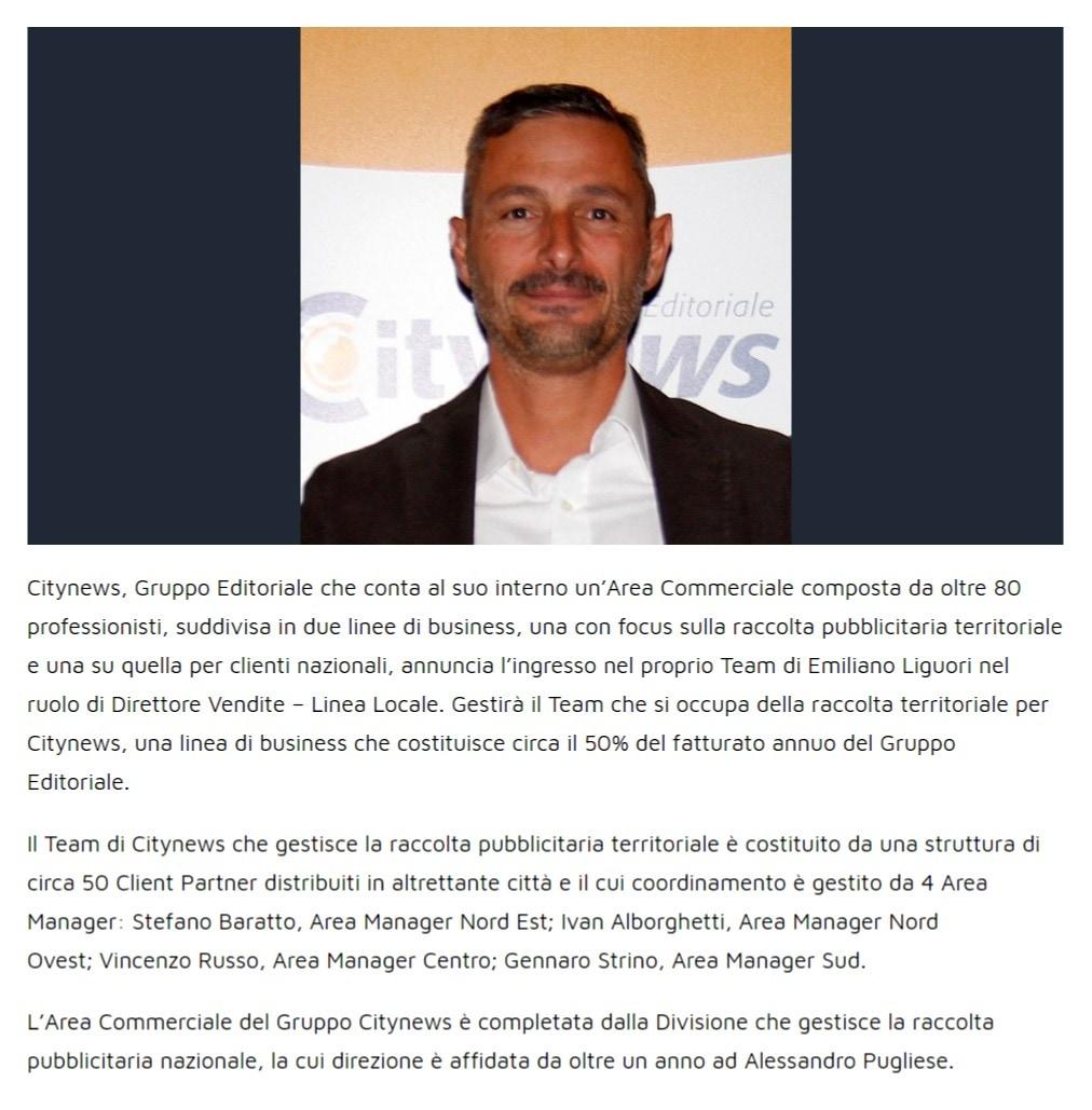 Gruppo Editoriale Citynews, Emiliano Liguori Direttore Vendite Linea Locale - YouMark 28 ottobre 2019-2