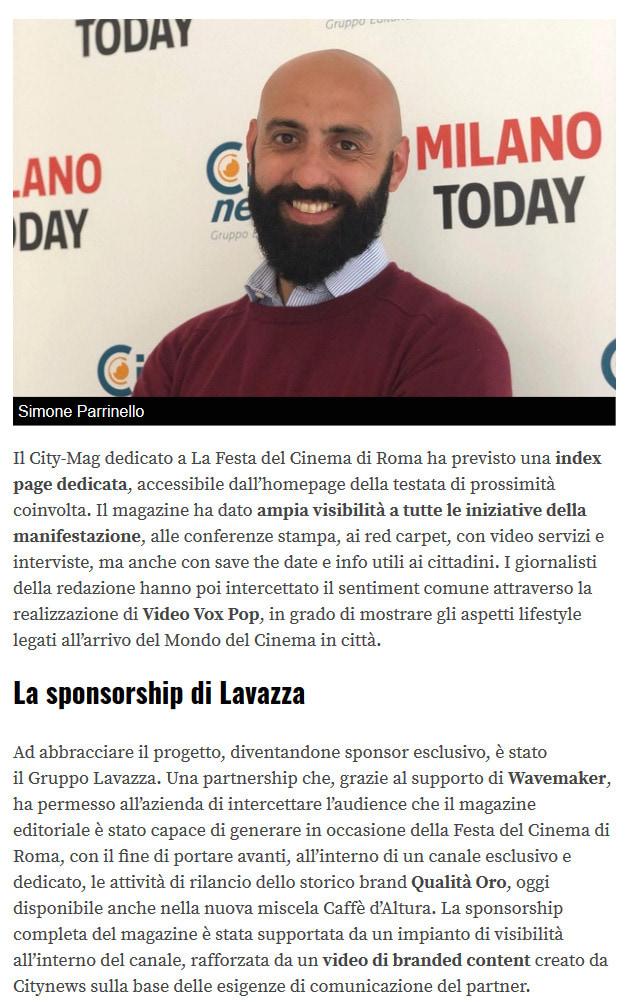 Citynews racconta la Festa del Cinema di Roma con un Magazine Editoriale su RomaToday - Engage, 31 ottobre 2019 -2-2