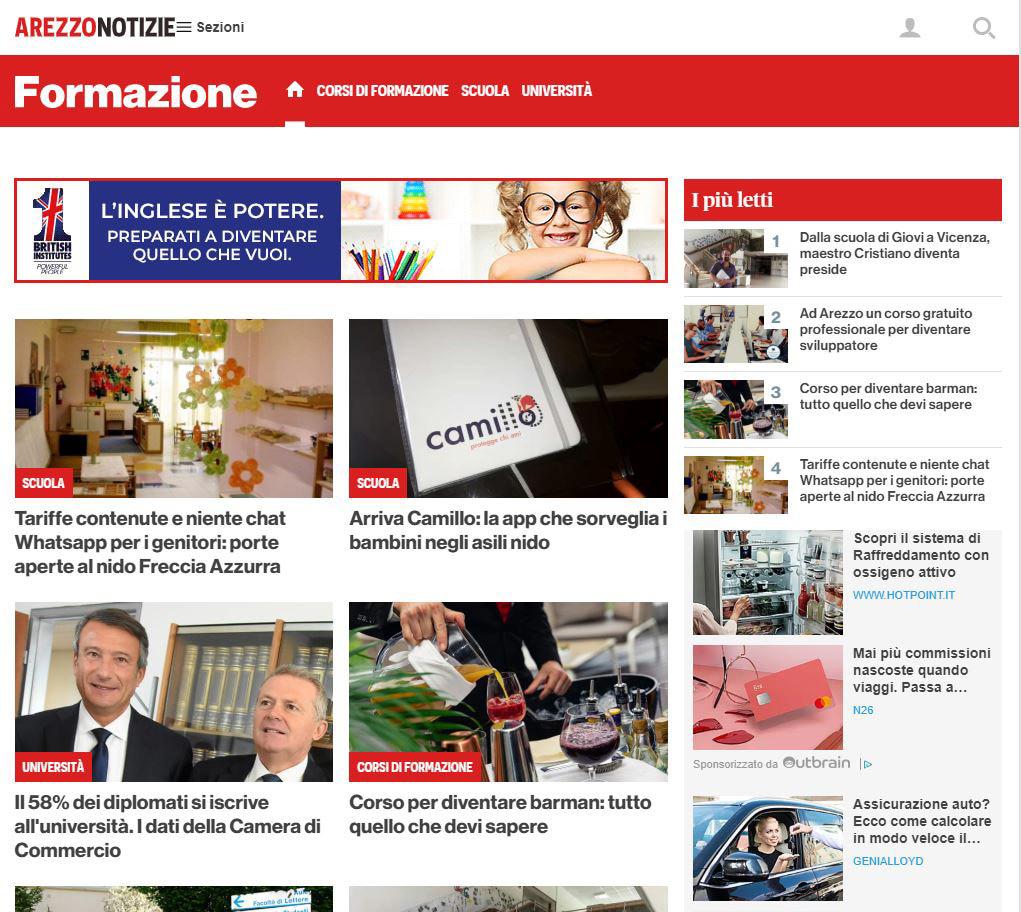 Sponsor Box, Canale Formazione - ArezzoNotizie - Alpha British Centre-2