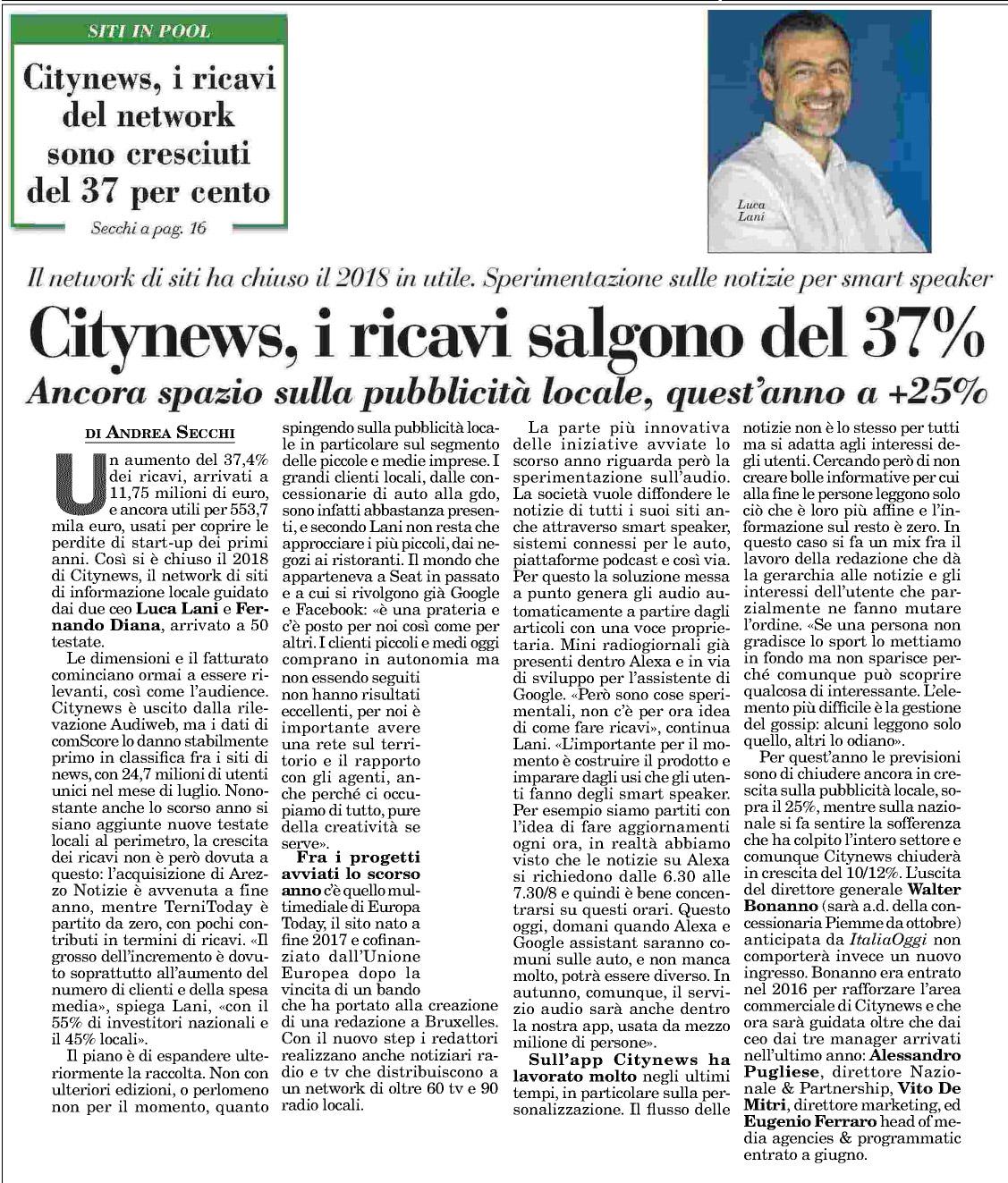 Intervista_Lani_ItaliaOggi_06-09-2019_Rassegna Stampa-3