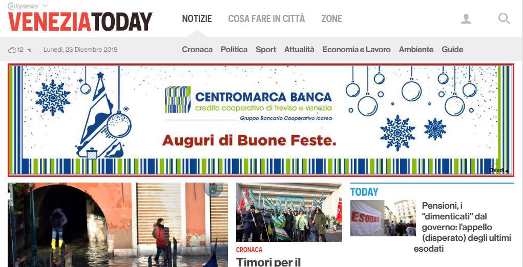 Masthead Desktop - VeneziaToday - CentroMarca Banca-2