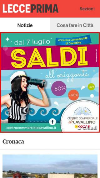 Centro Commerciale Cavallino - Masthead Mobile LeccePrima-2
