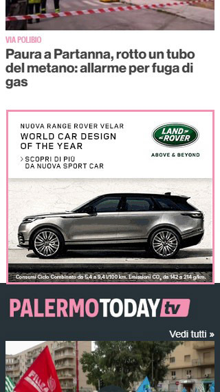 1st Medium Rectangle Mobile - PalermoToday - Nuova Sport Car-2