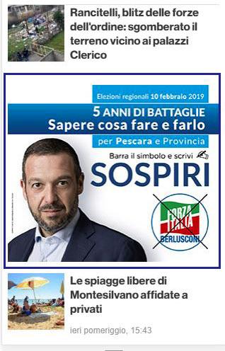 Primo Medium Rectagle - IlPescara - Lorenzo Sospiri, Forza Italia