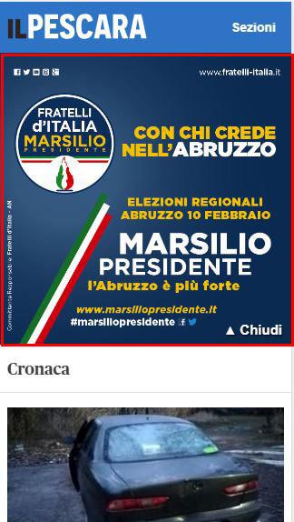 Masthead Mobile - IlPescara - Forza Italia