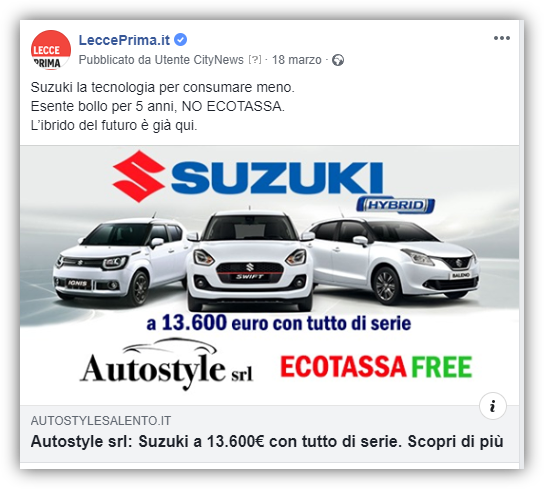 Post Facebook - LeccePrima -Autostyle-2