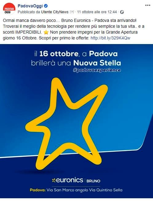 Post Facebook - PadovaOggi - Bruno Euronics-2