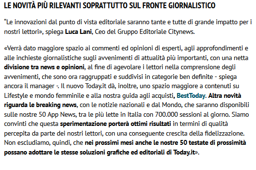 Citynews lancia un rinnovato Today.it - Engage, 29 ottobre 2020 (1)-2