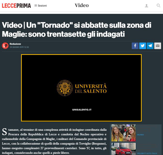Spot News - LeccePrima - Università del Salento-2