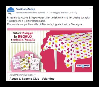 Acqua e Sapone - Post Sponsorizzato fanpage Facebook FrosinoneToday-2