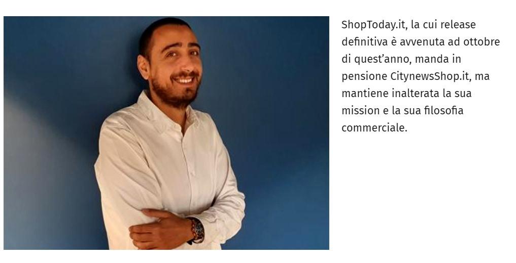 Citynews annuncia la release di ShopToday.it e l'ingresso di Massimo Meloni - Affari Italiani, 5 novembre 2019-2