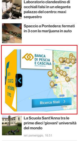 Banca Di Pescia E Cascina Credito Cooperativo - 3D Cube PisaToday-2