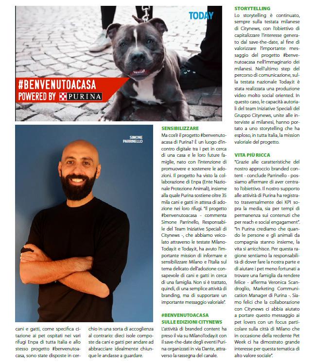 Citynews affianca Purina nella prima edizione della Milano Pet Week - DailyNet, 26 novembre 2019 (2)-2