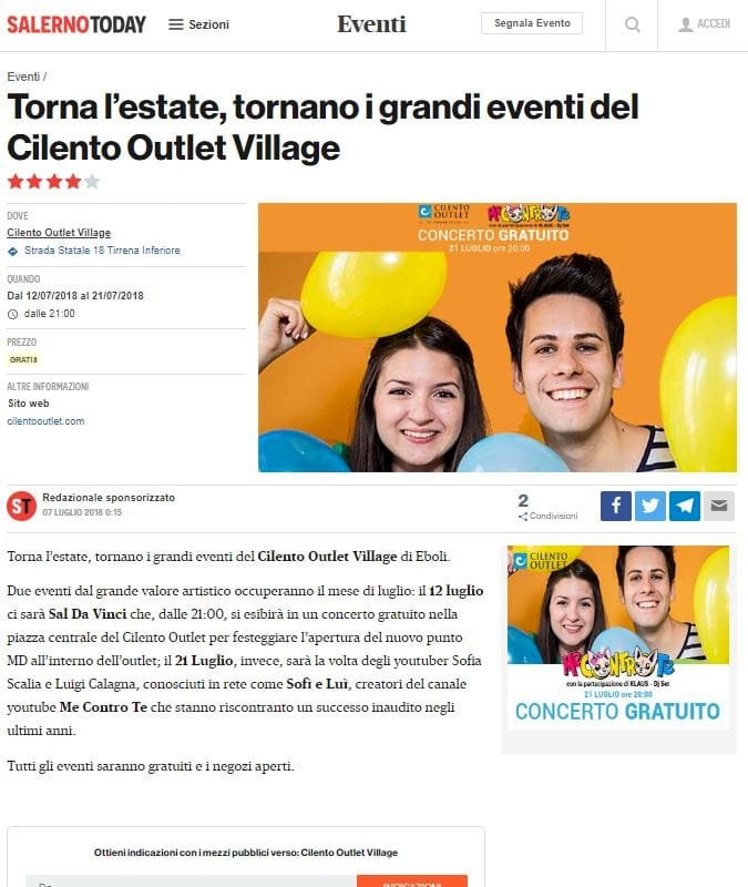 Cilento Outlet - Evento Premium SalernoToday-2
