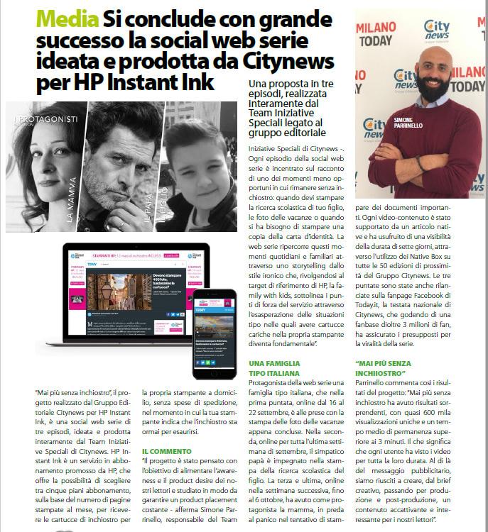 Si conclude con grande successo la social web serie per HP Instant Ink - DailyNet, 25 ottobre 2019-2
