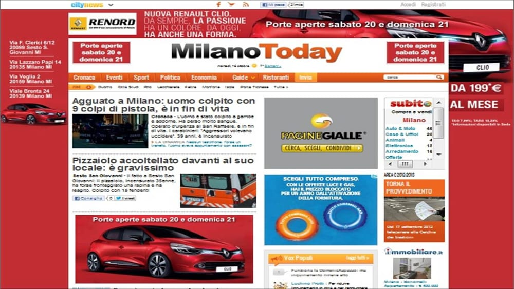 """Renord """"emoziona""""con la nuova Clio su MilanoToday"""