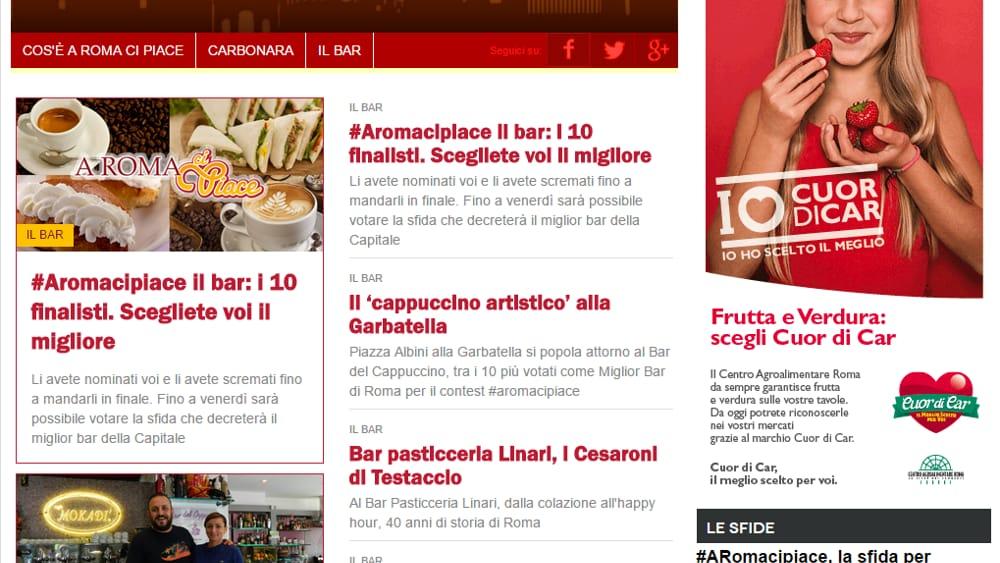 """""""A Roma ci piace"""", il nuovo progetto social di RomaToday"""