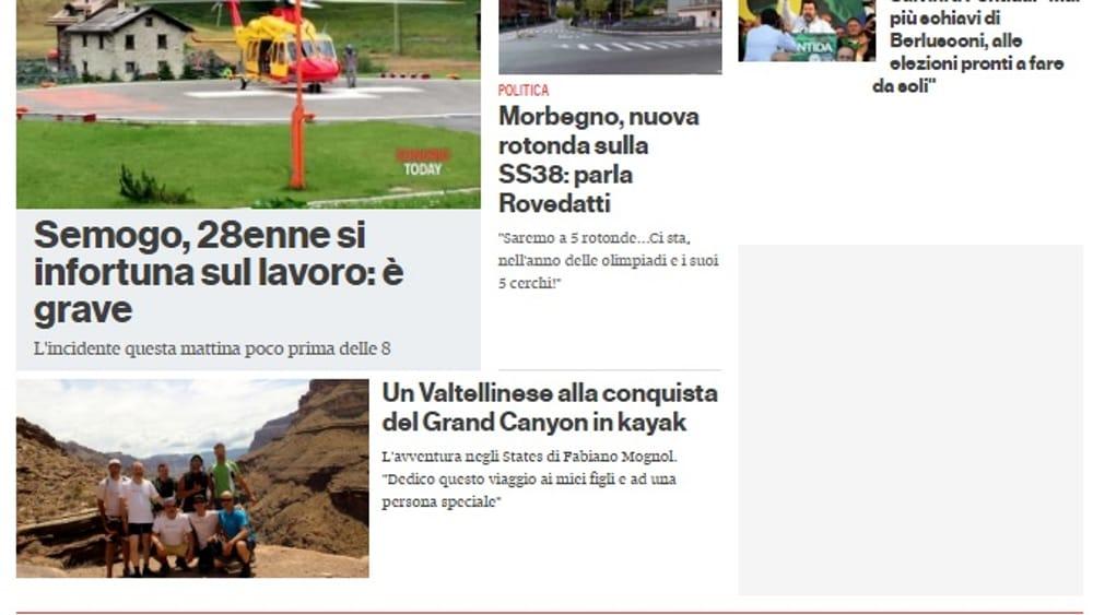 Citynews a quota 42! SondrioToday è la quinta edizione in Lombardia