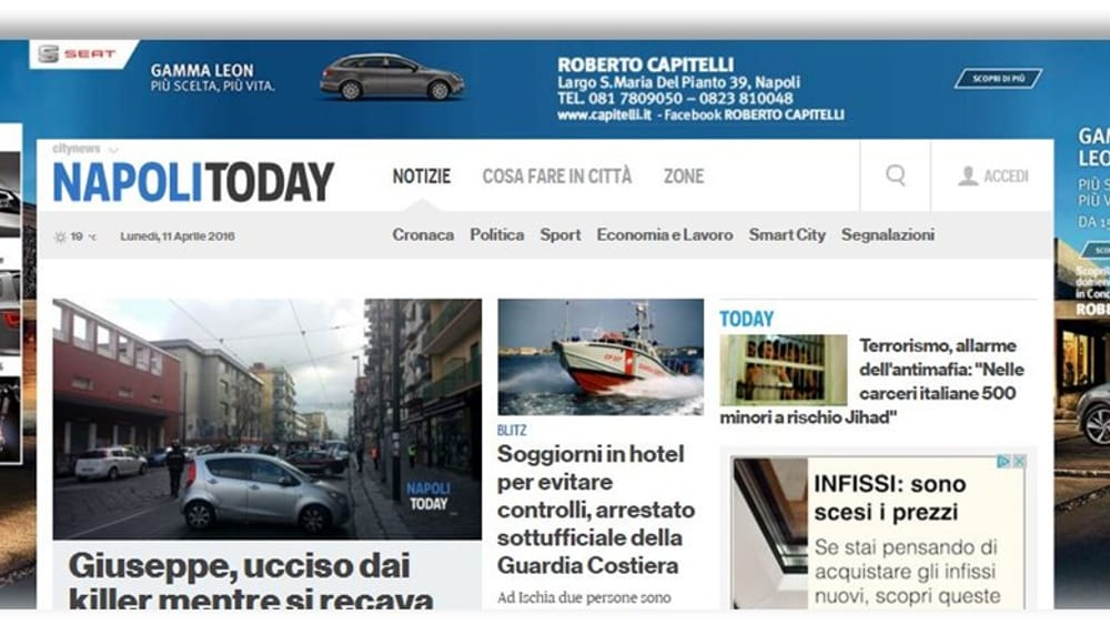 Seat torna a comunicare sulle testate Citynews