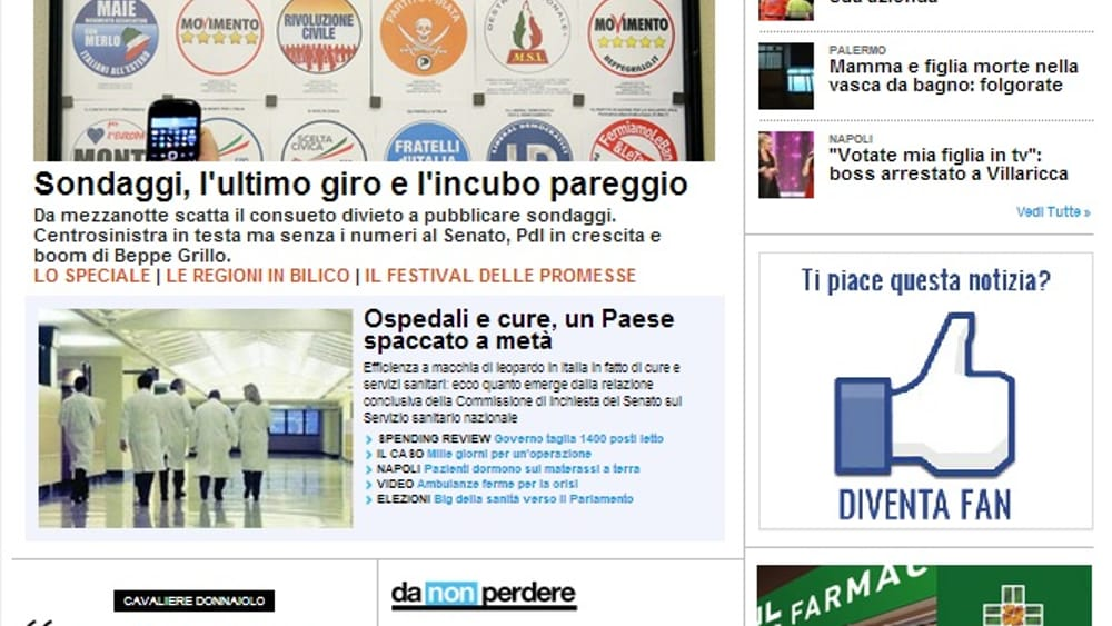 I giornali italiani in crisi investono sul web