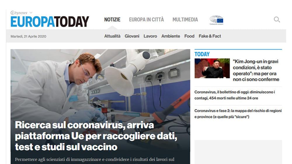 Europa.Today.it è il primo mezzo d'informazione italiano sulla politica UE